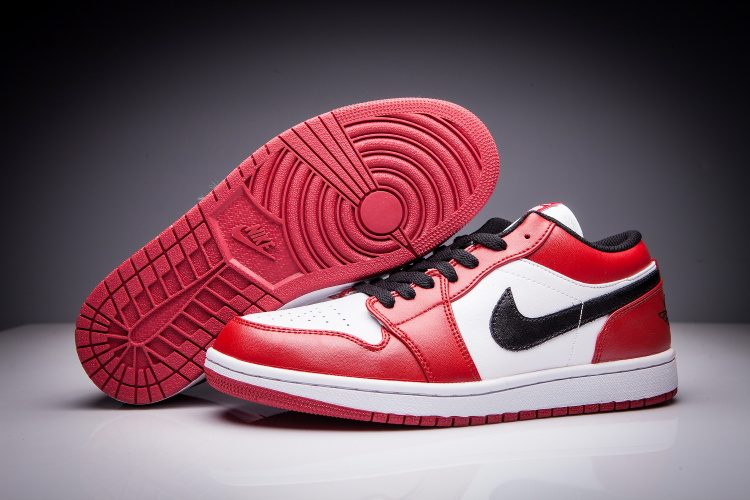 air jordan 1 low femme rouge